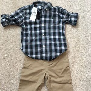 Ralph Lauren Baby Boys Shirt and Pants